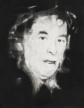 Ross Wilson, The Poet Seamus Heaney in the Darkness, Sandymount at Morgan O'Driscoll Art Auctions
