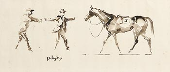 Peter Curling, Catching a Loose Horse (1972) at Morgan O'Driscoll Art Auctions