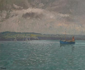 Patrick Leonard, Skerries Harbour Approach, Early Evening at Morgan O'Driscoll Art Auctions