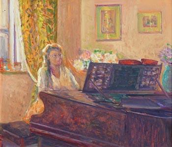 James O'Halloran, Niece at Grand Piano at Morgan O'Driscoll Art Auctions