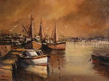 Norman J. McCaig, Trawlers, Wexford at Morgan O'Driscoll Art Auctions