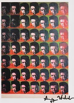 Andy Warhol, Elvis 49 Times (1982) at Morgan O'Driscoll Art Auctions