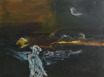 Gerald Davis, Figure in Landscape (1971) at Morgan O'Driscoll Art Auctions
