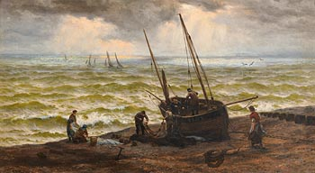 Thomas Rose Miles, Landing the Catch at Morgan O'Driscoll Art Auctions