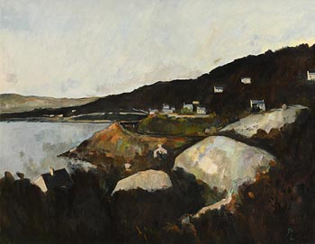 Peter Collis, Wicklow Coastal Landscape at Morgan O'Driscoll Art Auctions