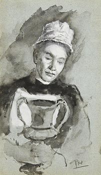 John Butler Yeats, Female Study at Morgan O'Driscoll Art Auctions