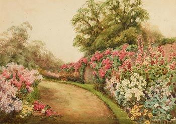 Mildred Anne Butler, Garden at Kilmurray (1900) at Morgan O'Driscoll Art Auctions