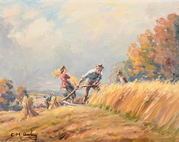 Charles J. McAuley, Harvest Time at Morgan O'Driscoll Art Auctions