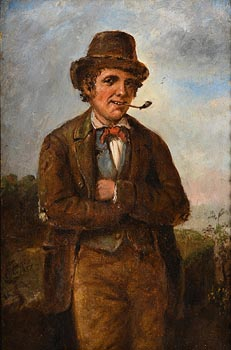 Charles Henry Cook, An Irish Travelling Man (1857) at Morgan O'Driscoll Art Auctions
