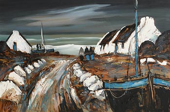 J.P. Rooney, Irish Shawlies and Loaded Boat at Morgan O'Driscoll Art Auctions