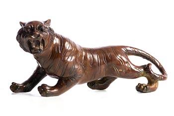 20th Century Continental School, Tiger at Morgan O'Driscoll Art Auctions