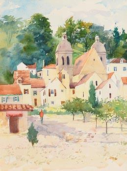 Brett McEntaggart, French Village at Morgan O'Driscoll Art Auctions