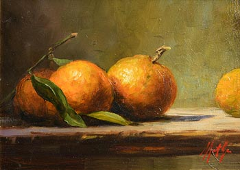 Mat Grogan, Four Oranges at Morgan O'Driscoll Art Auctions
