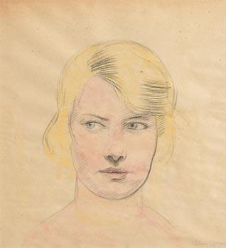 William Conor, Portrait of a Girl at Morgan O'Driscoll Art Auctions