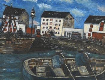Orla Egan, Times Past at Ramelton Quay at Morgan O'Driscoll Art Auctions