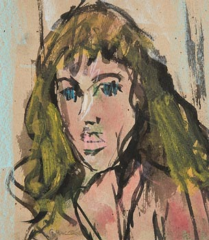 Gladys MacCabe, Portrait of a Girl at Morgan O'Driscoll Art Auctions