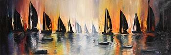 Barbara Hall, Regatta at Sunset at Morgan O'Driscoll Art Auctions