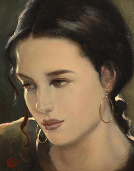 Ken Hamilton, Girl with the Gold Earrings at Morgan O'Driscoll Art Auctions