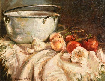 Senan O'Brien, Still Life - Preserving Pan with Produce at Morgan O'Driscoll Art Auctions