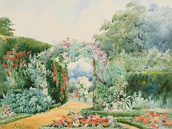 Mary Georgina Barton, The Flower Garden at Morgan O'Driscoll Art Auctions