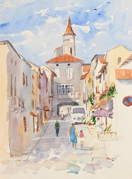 Brett McEntaggart, French Village at Morgan O'Driscoll Art Auctions