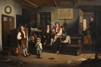 H Perry, The School House at Morgan O'Driscoll Art Auctions