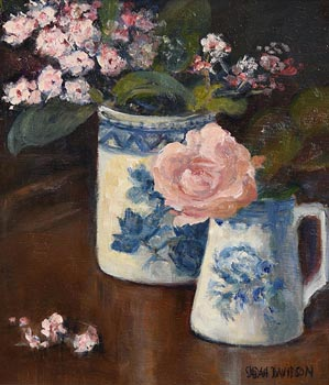 Sarah Davidson, Still Life - Rose & Viburnum (2004) at Morgan O'Driscoll Art Auctions