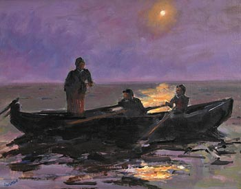 Michael Hanrahan, Aran Islanders Off Inis Oirr at Morgan O'Driscoll Art Auctions