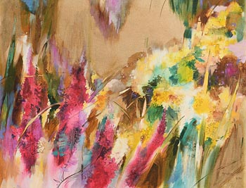 Maurice Henderson, Wild Flower Meadow (1990) at Morgan O'Driscoll Art Auctions