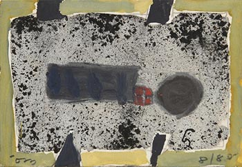 Tony O'Malley, Small Gouache No.1, St Ives (1980) at Morgan O'Driscoll Art Auctions