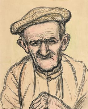 Maurice Canning Wilks, The Old Fisherman at Morgan O'Driscoll Art Auctions