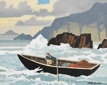 John Francis Skelton, Sea Surf, Blaskets, Kerry at Morgan O'Driscoll Art Auctions