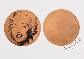 Andy Warhol, Gold Marilyn (1982) at Morgan O'Driscoll Art Auctions