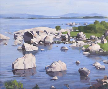 Fergus Lyons, Lough Conn, Limestone at Morgan O'Driscoll Art Auctions