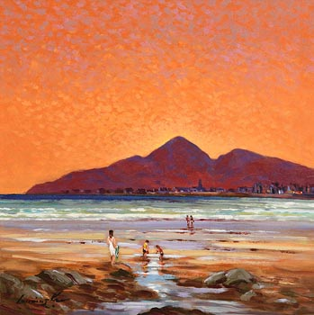William Cunningham, Evening Sunset, Mournes, Co. Down at Morgan O'Driscoll Art Auctions
