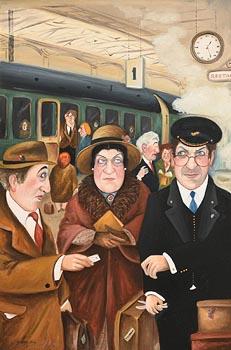 John Schwatschke, Caution at Kingsbridge at Morgan O'Driscoll Art Auctions