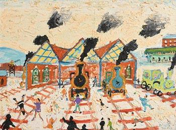 Simeon Stafford, The Train Station (2002) at Morgan O'Driscoll Art Auctions