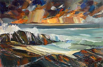 Douglas Hutton, Shoreline....Strandhill, Sligo (2017) at Morgan O'Driscoll Art Auctions