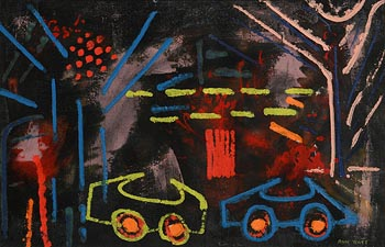Anne Yeats, Sicilian Fairground by Night I at Morgan O'Driscoll Art Auctions