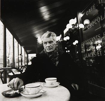 John Minihan, Samuel Beckett Seated in Cafe, Paris (1985) at Morgan O'Driscoll Art Auctions