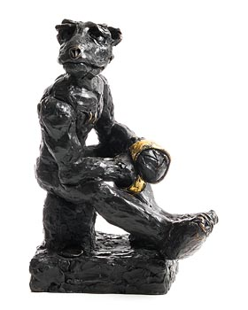 Patrick O'Reilly, Bear with the Golden Gloves (2017) at Morgan O'Driscoll Art Auctions