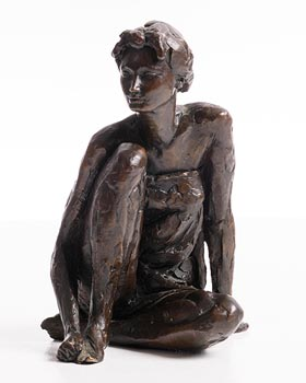 David Williams-Ellis, Crouching Female 1990 at Morgan O'Driscoll Art Auctions