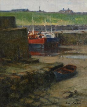 James English, The Old Slipway, Balbriggan at Morgan O'Driscoll Art Auctions