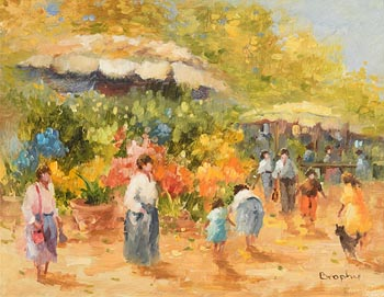 Elizabeth Brophy, Market Day at Morgan O'Driscoll Art Auctions