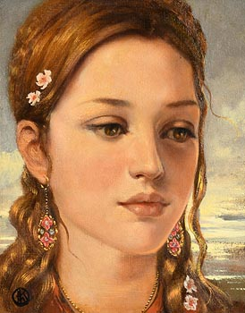 Ken Hamilton, Girl with Floral Earrings at Morgan O'Driscoll Art Auctions