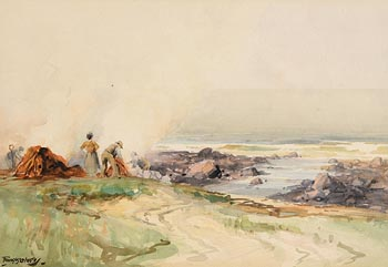 Frank McKelvey, Gathering the Kelp at Morgan O'Driscoll Art Auctions