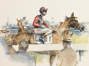 Peter Curling, The Parade Ring at Morgan O'Driscoll Art Auctions