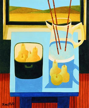 Graham Knuttel, Still Life by the Windowsill at Morgan O'Driscoll Art Auctions