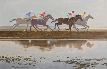 John Skelton, The Last Race, Laytown, Co. Meath (1997) at Morgan O'Driscoll Art Auctions