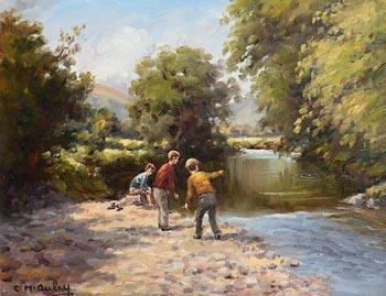 Charles J. McAuley, Spotting the Trout at Morgan O'Driscoll Art Auctions